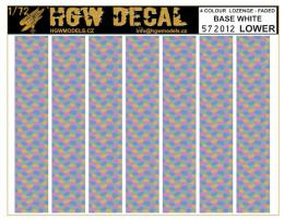 HGW 1/72 Decals 4-colour LOZENGE faded base white LOWER