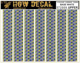 HGW 1/72 Decals 5-colour LOZENGE faded base white UPPER
