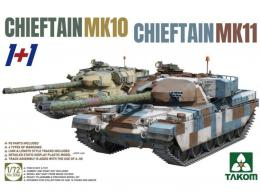 TAKOM 1/72 Chieftain MK 10 & Chieftain Mk.1 2in1