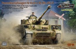 RYE FIELD MODEL 1/35 Pz. Kpfw. IV Ausf. J Last Production w/Full interior + Clear parts + Workable track links