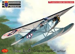 KOVOZÁVODY 1/72 L-4 Piper Grasshopper w/Float