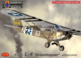 KOVOZÁVODY 1/72 L-4 Piper Grasshopper Rossie the Rocket w/Bazookas