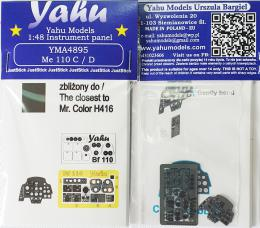 YAHU 1/48 Instrument Panel Bf-110C/D for CHC