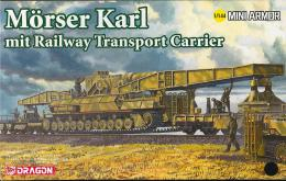 DRAGON 1/144 Morser Karl mit Railway Transporter Carrier