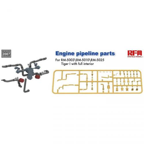 1/35 Tiger Tank Engine Pipe Parts for RFM5003/5010/5025