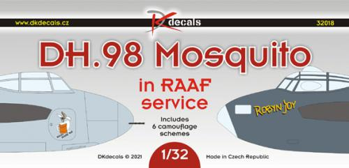 DK DECALS 1/32 DH.98 Mosquito in RAAF service