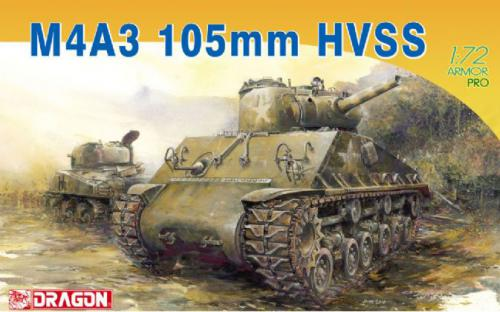 DRAGON 1/72 M4A3 105mm HVSS