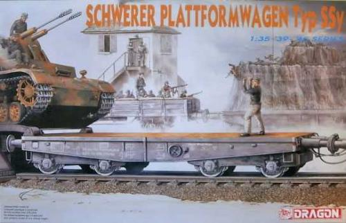 DRAGON 1/35 German Railway Schwerer Plattformwagen Typ Ssy