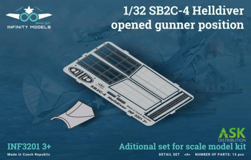 INFINITY 1/32 SB2C-4 Helldiver opened gunner position