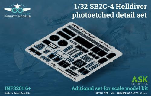 INFINITY 1/32 SB2C-4 Helldiver photoetched detail set
