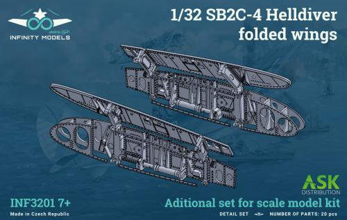 INFINITY 1/32 SB2C-4 Helldiver folded wings