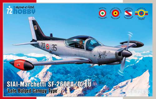 SPECIAL HOBBY 1/72 SIAI-Marchetti SF-260EA/D/W  Late Bulged Canopy Type