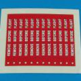 1/32 Remove before flight flags - white lettering