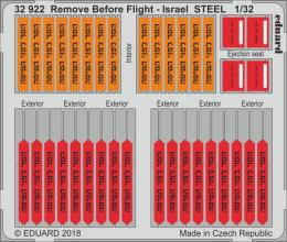 EDUARD Lepty  Mask  1/32 Remove Before Flight - Israel STEEL