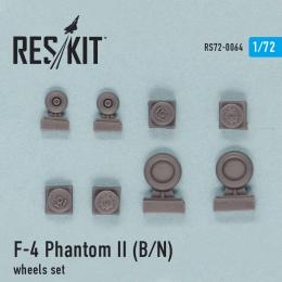 RESKIT 1/72 F-4 Phantom II (B,N) wheels set for ACA