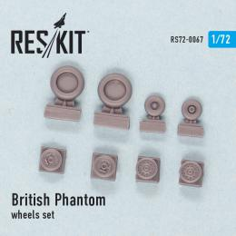 RESKIT 1/72 British Phantom wheels set for FUJ, AIR