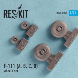 RESKIT 1/72 F-111 (A,B,C,D) wheels set for HAS,REV,AMT