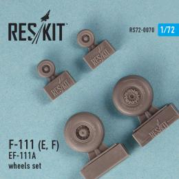 RESKIT 1/72 F-111 (E,F) wheels set for AMT,HAS,ITAL