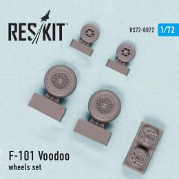 RESKIT 1/72 F-101 (B) Voodoo wheels set  for REV,HAS,VAL