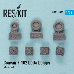 RESKIT 1/72 F-102 Delta Dagger wheels set  for HAS,MENG