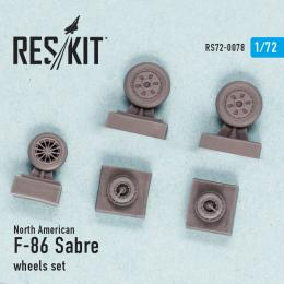 RESKIT 1/72 N.A. F-86 Sabre wheels set for AIR,ACA,HAS
