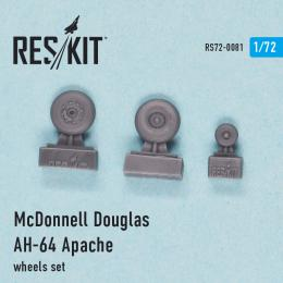 RESKIT 1/72 Douglas AH-64 Apache wheels set for ACA,HAS