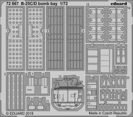 EDUARD Lepty Set 1/72  B-25C/D Mitchell Bomb bay for AIR