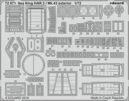 EDUARD Lepty 1/72 Sea King HAR.3 / Mk.43 exterior  for AIRF