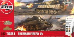 AIRFIX 1/72 Gift Set - Classic Conflict Tiger I vs Sherman Firefly