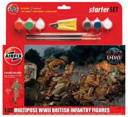 AIRFIX 1/32 WWII British Infantry Gift Set
