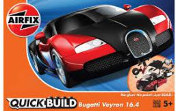 AIRFIX 6020 Quickbuild  Bugatti Veyron Black/Red