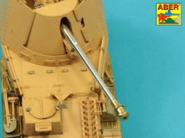 ABER 1/35 35L-005N German 7,5cm gun barrel with muzzle brake for Pak 40/3 - Marder III, Ausf.M