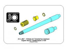 ABER 1/35 35L-267 170mm A/T gun barrel for German Jagdpanzer E-100 (Trumpeter)