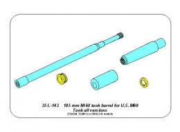 ABER 1/35 35L-282 105 mm M-68 tank barrel for U.S. M60 Patton Tank
