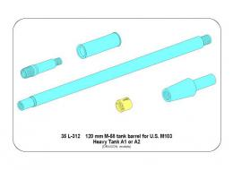 ABER 1/35 35L-312 Set of barrels for Soviet tank T-50 45 mm 20K x 1 pcs 7,62 mm DT x 2 pcs.