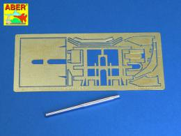 ABER 1/72 72L-47 Italian 90mm barrel for 90/53 Gun and additional fully detailed shield