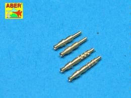 ABER 1/32 A32003 Set of 4 barrels tips for German 7,92 mm MG 17 aircraft machine guns