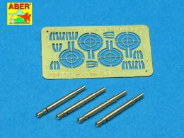 ABER 1/32 A32008 Set of 4 barrels for German Oerlikon 20mm aircraft machine guns MG FF with sights