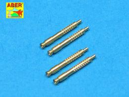 ABER 1/32 A32011 Set of 4 barrel tips for German 13 mm MG 131 aircraft machine gun