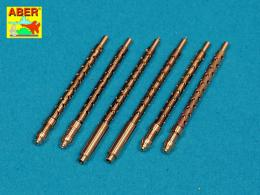ABER 1/32 A32108 Set of 6 turned U.S. cal .50 (12,7mm) Browning M2 barrels for P-51 Mustang