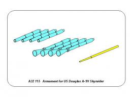 ABER 1/32 A32-115 Armament for US Douglas A-1H Skyraider