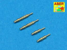 ABER 1/48 A48003 Set of 4 barrels tips for German 7,92 mm MG 17 aircraft machine guns