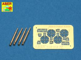 ABER 1/48 A48008 Set of 4 barrels for German Oerlikon 20mm aircraft machine guns MG FF with sights