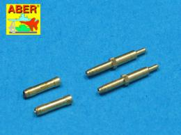 ABER 1/48 A48010 Set of 2 barrels for German aircraft 30mm machine cannons MK 108 with blast tube
