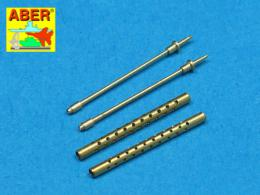 ABER 1/48 A48017 Set of 2 cal .50 (12,7mm) standard barrels for U.S. aircraft machine guns Browning M2