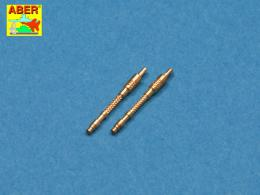ABER 1/48 A48021 Set of 2 barrels for German 13mm aircraft machine guns MG 131 (late type), very useful tru looking additional p