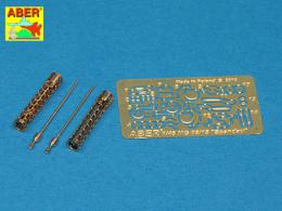 ABER 1/48 A48040 Set of two barrels for German 7,9 mm lMG 08/15 Spandau WWI aircraft machine gun