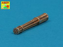 ABER 1/48 A48050 Set of barrels for 20 mm gun M61A1 Vulcan used in modern US Force aircrafts