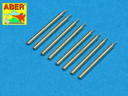 ABER 1/48 A48109 Set of 8 turned cal .50 (12,7mm) U.S. Browning M2 barrels for P-47 Thunderbolt