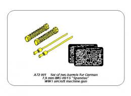 ABER 1/72 A72-001  Set of two barrels for LMG 08/15 Spandau